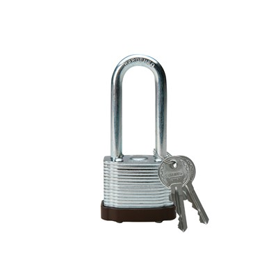 Brady 103533 - Brady Nonconductive Nylon Padlock - 6-Pin Cylinder - 1.5 in. Shackle Clearance - Red