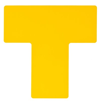 "Brady 104463 - B-514 ToughStripe Floor Divider ""T"" Marks - 4"" x 10"" - Yellow - 20/Pack"