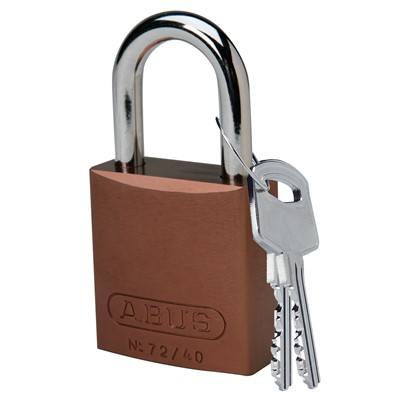 "Brady 104574 - ABUS Standard Size Aluminum Padlock - 6-Pin Cylinder - 1"" Shackle Clearance"