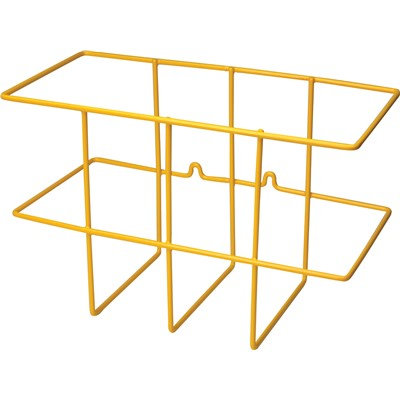 "Brady 104791 - Two-Binder Rack - Yellow - (6.5""  Deep)"