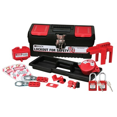 Brady 104795 - Personal Basic Lockout Toolbox Kit w/2 Safety Padlocks