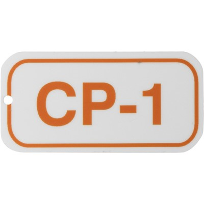 Brady 105634 - Energy Source Tags for Control Panels - CP-1 - Orange on White - Adhesive Back - 5/Pack