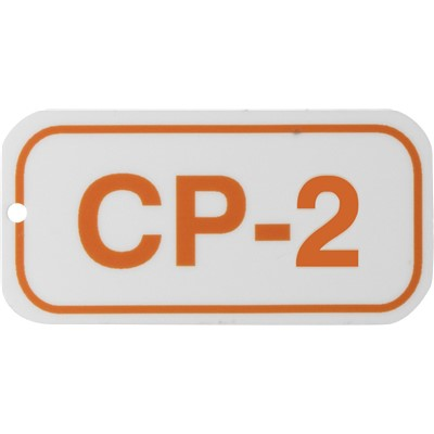Brady 105635 - Energy Source Tags for Control Panels - CP-2 - Orange on White - Adhesive Back - 5/Pack