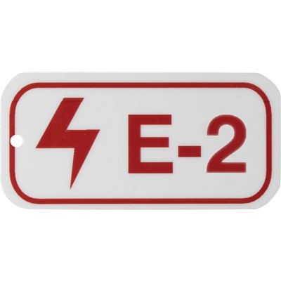 Brady 105640 - Energy Source Tags for Electrical - E-2 - Red on White - Adhesive Back - 5/Pack