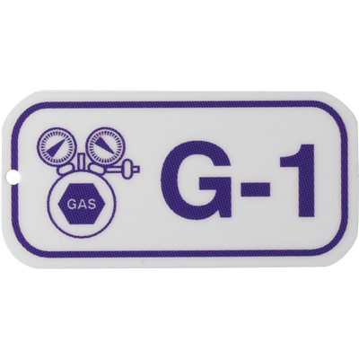 Brady 105669 - Energy Source Tags for Gas - G-1 - Purple on White - 5/Pack