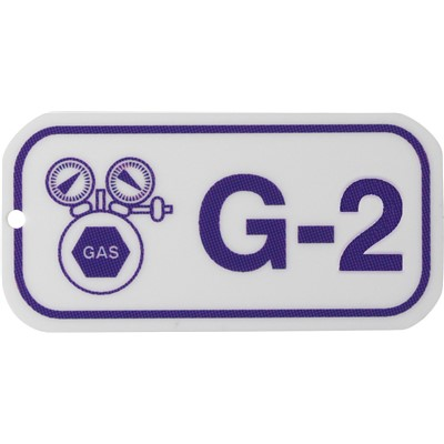 Brady 105670 - Energy Source Tags for Gas - G-2 - Purple on White - 5/Pack