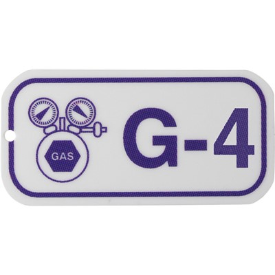 Brady 105672 - Energy Source Tags for Gas - G-4 - Purple on White - 5/Pack