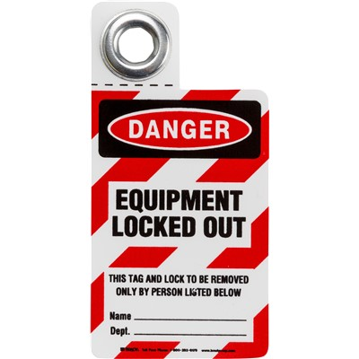 "Brady 105722 - Equipment Locked Out Tag - 3"" H x 2"" W"