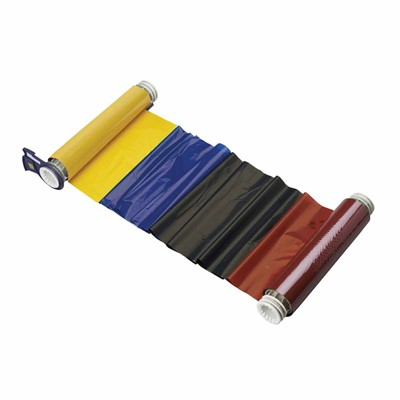 "Brady 13531 - PowerMark® Four Color Ribbon - 6.25"" x 200' - Black/Red/Blue/Yellow"