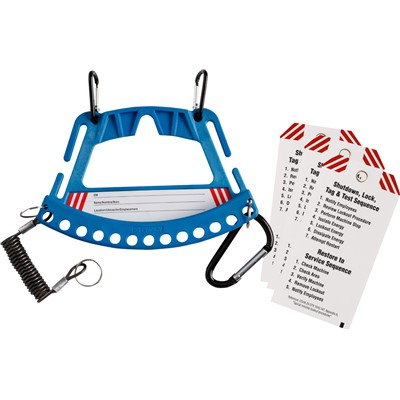 "Brady 148862 - Blue Safety Lock & Tag Carrier - 7.75"" x 5.25"" - Blue"