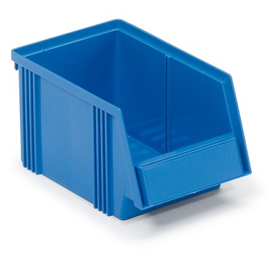 "Treston 1525-6 - 1525 Series Polypropylene Stacking Bin - 9.84"" x 5.86"" x 5.11"" - Blue"