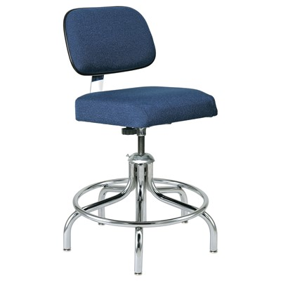 "Bevco 2200/5E-NY - Evanston-E 2000 Series ESD Chair - Static Control Fabric - 19""-24"" - Metal Glides - Navy"