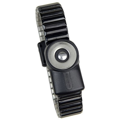 SCS (formerly 3M) 2200 Series - MagSnap™ 360 Magnetic Metal ESD Wrist Strap - Dual Wire - No Cord - Medium