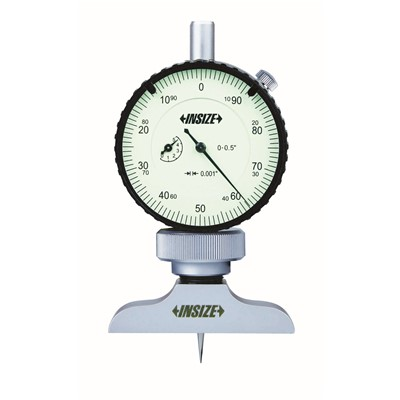 "Insize 2341-E1 - Dial Depth Gage - 0-1.2"" Range - 0.001"" Graduation"