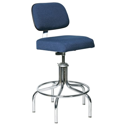 "Bevco 2600/5E-NY - Evanston-E 2000 Series ESD Chair - Static Control Fabric - 24""-29"" - Metal Glides - Navy"