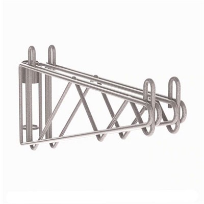 InterMetro Industries (Metro) 2WS24K4 - Metro Super Erecta Post-Type Wall Mount Double Shelf Support - Metroseal Gray Epoxy - 24""