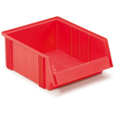 "Treston 3040-5 - 3040 Series Large Polypropylene Stacking Bin - 20.08"" x 7.32"" x 7.17"" - Red"