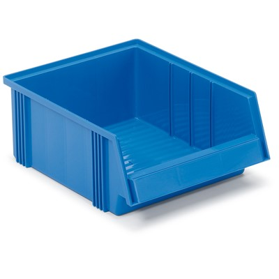 "Treston 3040-6 - 3040 Series Large Polypropylene Stacking Bin - 20.08"" x 7.32"" x 7.17"" - Blue"