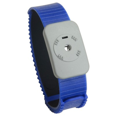 SCS 4720 - Dual Conductor Thermoplastic Adjustable Wristband - Blue