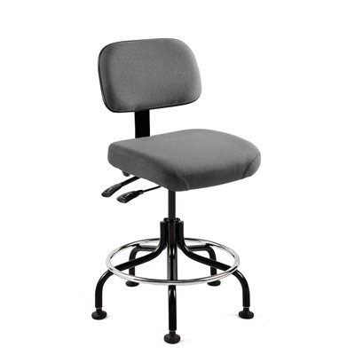 "Bevco 5201-F-GY - Doral 5000 Series Upholstered Chair w/Seat & Back Tilt - Fabric - 20""-25"" - Mushroom Glides - Gray"