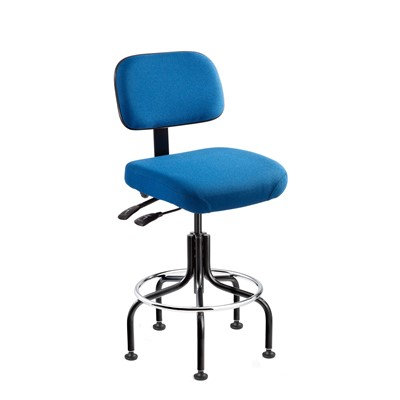 "Bevco 5201-F-MB - Doral 5000 Series Upholstered Chair w/Seat & Back Tilt - Fabric - 20""-25"" - Mushroom Glides - Medium Blue"
