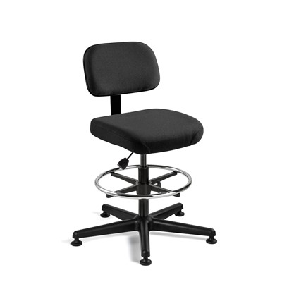 "Bevco 5500-F-BK - Doral 5000 Series Upholstered Chair - Fabric - 23""-33"" - Mushroom Glides - Black"