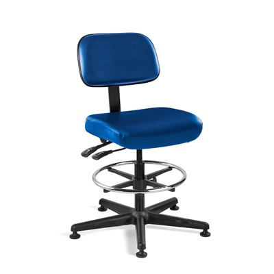 "Bevco 5501-V-BL - Doral 5000 Series Upholstered Chair w/Seat & Back Tilt - Vinyl - 23""-33"" - Mushroom Glides - Blue"