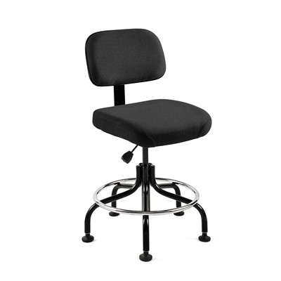 "Bevco 5600-F-BK - Doral 5000 Series Upholstered Chair - Fabric - 25""-30"" - Mushroom Glides - Black"