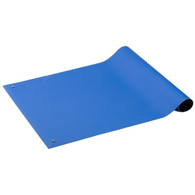 "ACL Staticide 5912472 - Gemini Series Dual Layer ESD Pre-Cut Mat - 24"" x 72"" - Royal Blue"