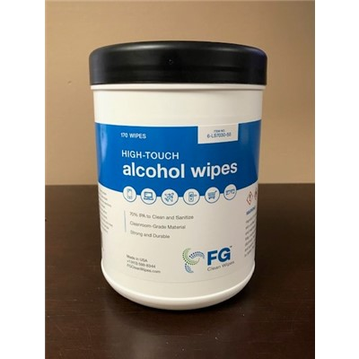 "FG Clean Wipes 6-LS7030-55 - Polyester Cellulose Presaturated Wipes - 70% isopropyl/30% DI water - 5"" x 5"" - 170 Wipes/Canister"