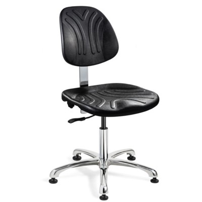 "Bevco 7050D - Dura 7000D Series Ergonomic Chair - Polyurethane - 15""-20"" - Mushroom Glides - Black"
