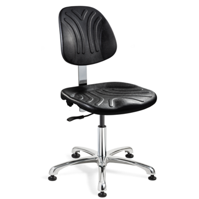 "Bevco 7052D - Dura 7000D Series Ergonomic Chair w/Independent Seat & Back Tilt - Polyurethane - 14.5""-19.5"" - Mushroom Glides - Black"