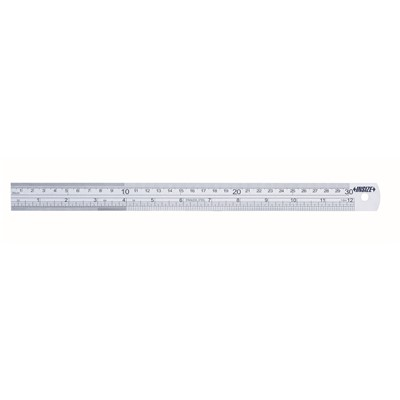 "Insize 7110-600 - Basic Model Steel Rule w/Graduation On Front & Back - 24""/600mm Range - 24.803"" x 1.181"" x 0.047"""