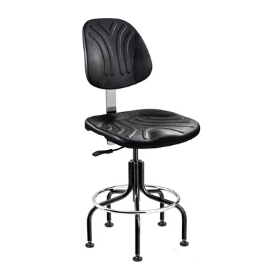 "Bevco 7202D - Dura 7000D Series Ergonomic Chair w/Independent Seat & Back Tilt - Polyurethane - 19""-24"" - Mushroom Glides - Black"