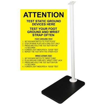SCS 770032 - Foot Plate & Stand for Combo Tester