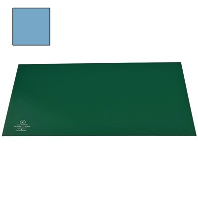 "SCS 770074 - R3 Dissipative Rubber Worksurface Mat Kit - 24"" x 48"" - Light Blue"