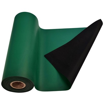 "SCS 770083 - R3 Dissipative Rubber Worksurface Mat - 36"" x 50' - Green"