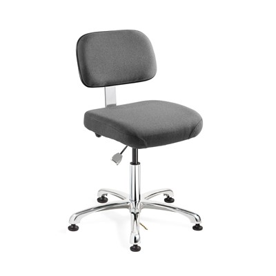 "Bevco 8050-F-GY - Doral-E 8000 Series ESD Laboratory Chair - Static Control Fabric - 15.5""-21"" - ESD Mushroom Glides - Gray"