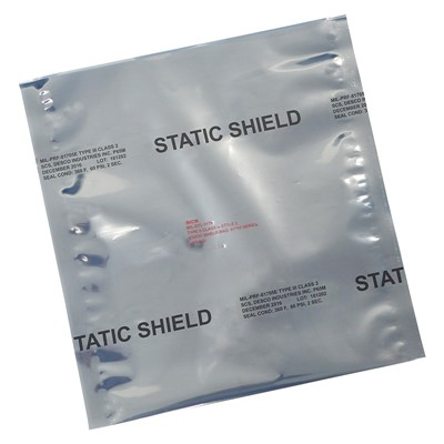 "SCS 8171216 - 81705 Series Metal-In Static Shielding Bag - Open - 12"" x 16"" - 100/Pack"