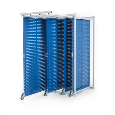 "Treston 830518-07P - TKT 4-Panel Steel Pegboard Tool Storage System - 40.35"" x 83.66"" x 40.74"""