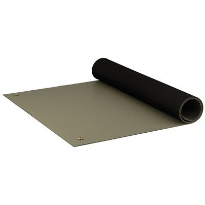 "ACL Staticide 8385DGYM2436 - Dualmat Series 2-Layer Static Dissipative Pre-Cut Mat - 24"" x 36"" - Dark Gray"