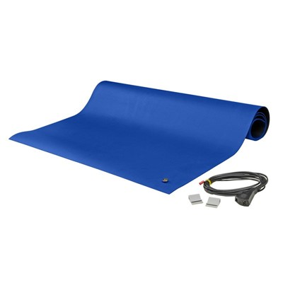 "SCS 8900 - 8900 Series Dissipative Rubber Mat Kit - 2-Layer - 24"" x 48"" x 0.065"" - Blue"