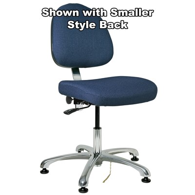 "Bevco 9050L-E-F-NY - Integra-E 9000 Series ESD Chair - Static Control Fabric - 15.5""-21"" - ESD Mushroom Glides - Navy Blue"