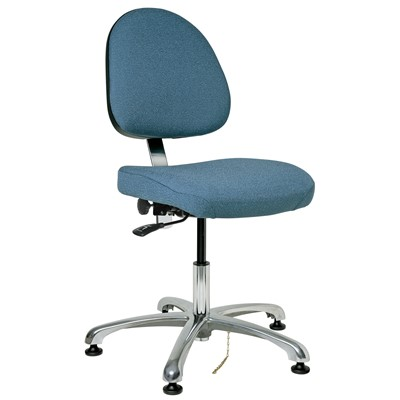 "Bevco 9050M-E-F-SB - Integra-E 9000 Series ESD Chair - Static Control Fabric - 15.5""-21"" - ESD Mushroom Glides - Slate Blue"