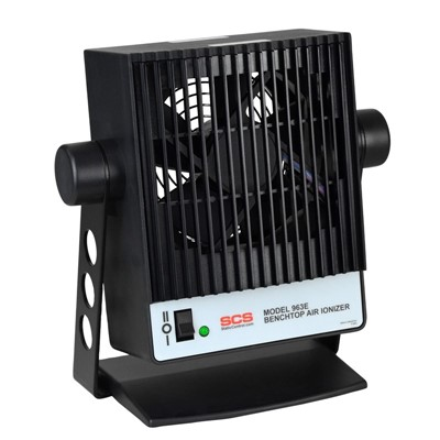 SCS 963E Benchtop Air Ionizer - 2-Speed Fan - 120V