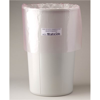 ACL Staticide 5076 - Anti-Static Trash Can Liner - 11 Gallon - Pink - 50 Bags/Package