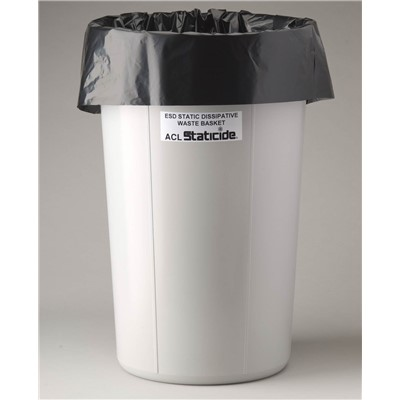 ACL Staticide 5076B - Anti-Static Trash Can Liner - 11 Gallon - Black - 50 Bags/Package