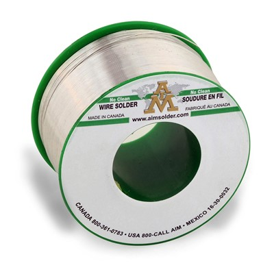 "AIM Solder 14099 - SAC305 No-Clean GlowCore Solder Wire - 0.15"" Dia. - 0.5 lb Spool"