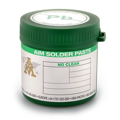 AIM Solder 21049 - NC258 SAC305 Lead-Free No-Clean Solder Paste - Type 4 - 500 Gram Jar
