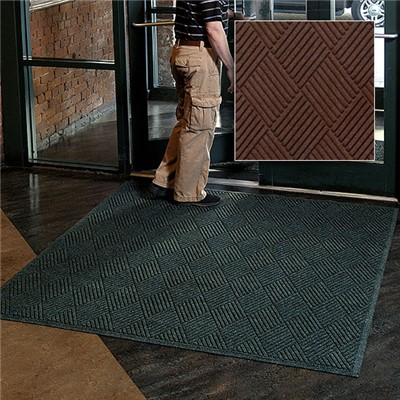 Andersen Co. - No. 221 Waterhog Fashion Diamond Entrance Mat - Scraper/Wiper - 3' x 4' - Smooth Back - Dark Brown